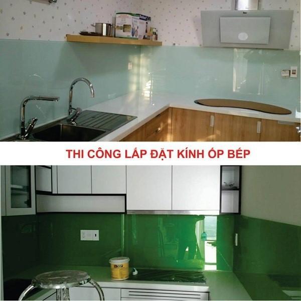 Nam Phương Window đơn vị chuyên thi công lắp đặt kính ốp bếp giá tốt tại Hà Nội