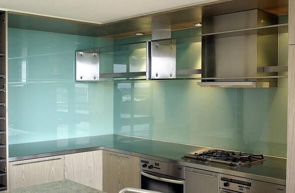 Kính ốp bếp xanh ngọc