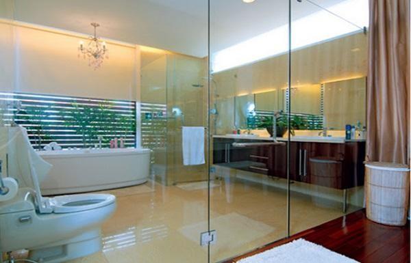 Mẫu cửa kính cường lực sử dụng cho cửa phòng tắm