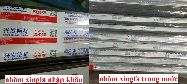 Hai dòng cửa nhôm xingfa phổ biến trên thị trường hiện nay