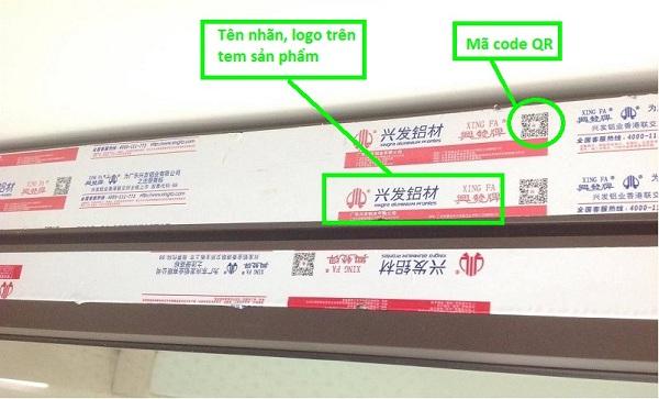 Kiểm tra thông tin cửa nhôm xingfa chính hãng qua mã code