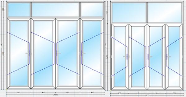 Thước Lỗ Ban là tiêu chuẩn để tính toán kích thước các loại cửa nhôm Xingfa
