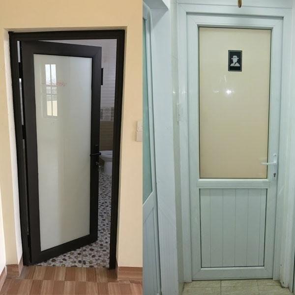 Bên trái là mẫu cửa nhôm kính Xingfa